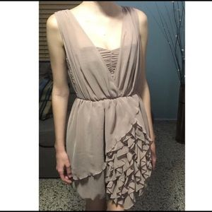 Nude / Taupe Ruffle Dress from H&M